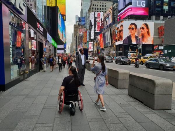 스마트드라이브를 통해 뉴욕여행을 다녀온 고객의 여행모습